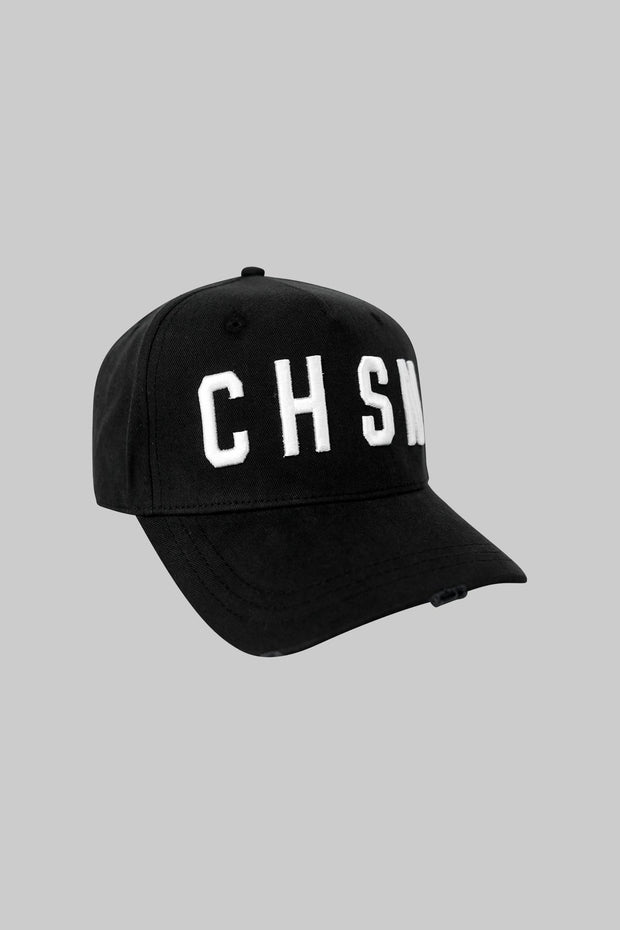 CHSN Distressed Cap Black