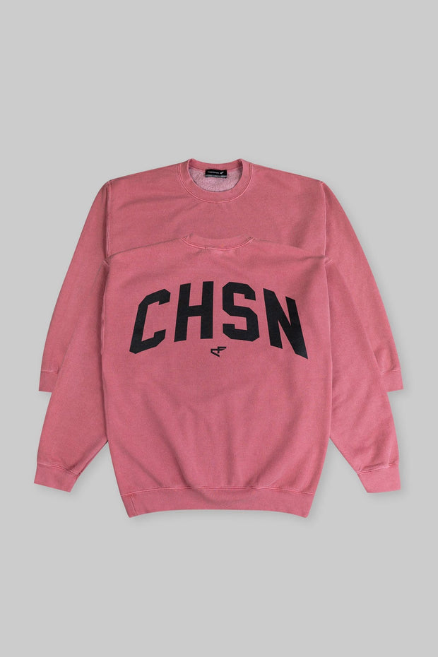 CHSN Oversized Crewneck Moscato Red