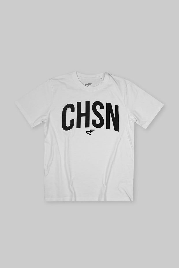 CHSN Arch Heavyweight Tee Black on White