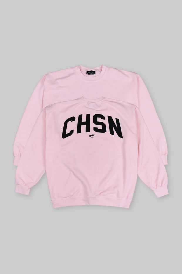 CHSN Oversized Crewneck Cotton Candy