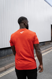CHSN Tee Blood Orange with White