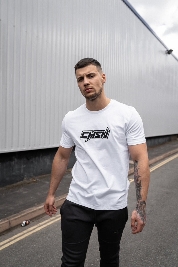 CHSN Tee White with Black