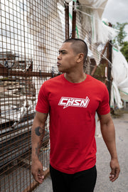 CHSN Tee Red with White