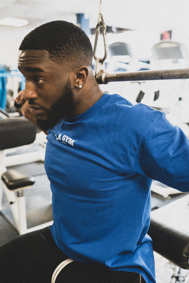L.A Gym Official Tee Blue