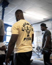 Retro 'G' Gym Tee Mustard Yellow & Black