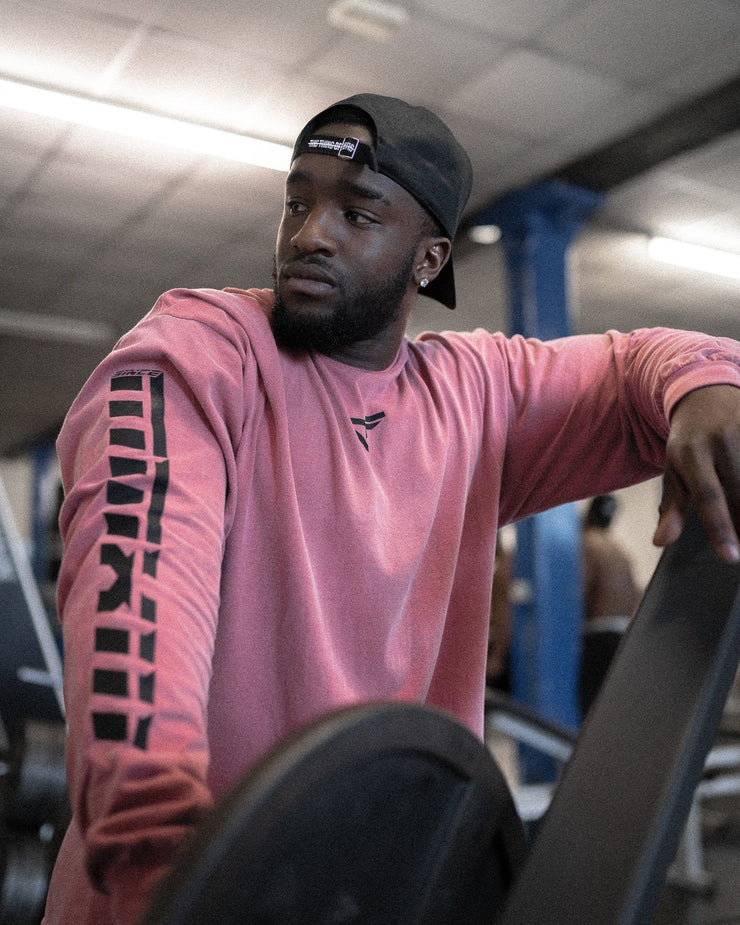 Retro 'G' Gym Long Sleeve Tee Moscato Red & Black