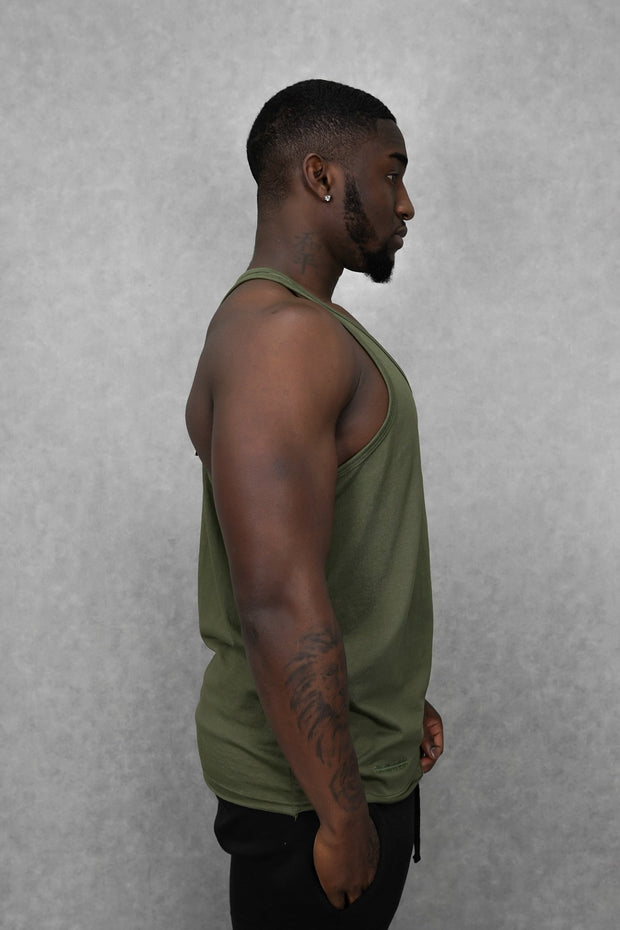 Essential Stringer Vest Khaki Green
