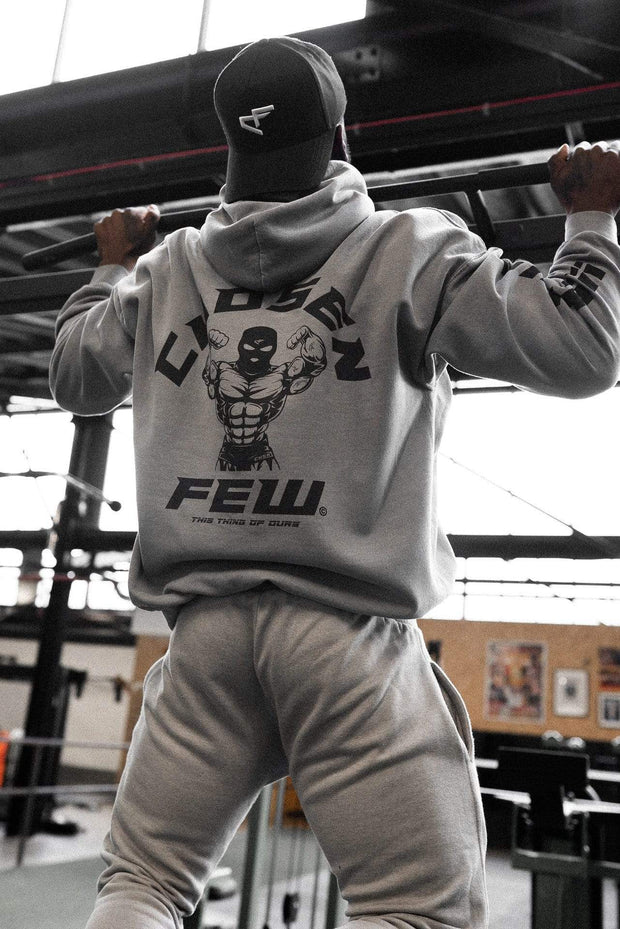 Retro 'G' Gym Hoodie Gunmetal Grey & Black
