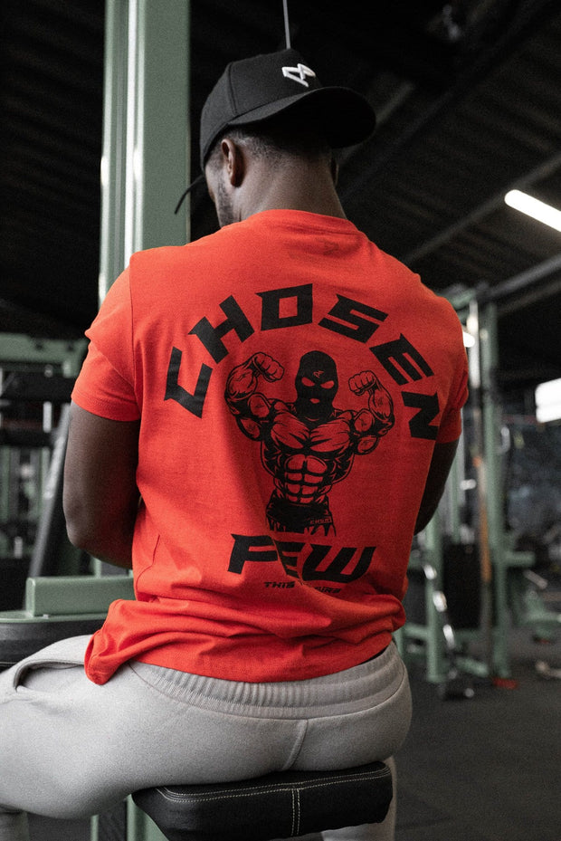 Fitted 'G' Gym Tee Red