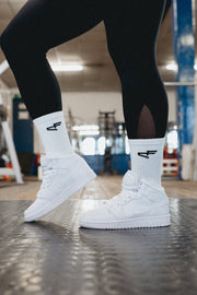 Performance Logo Sock White/Black
