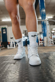 Performance Branded Sock White/Black