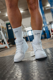 Performance Branded Sock White/Grey