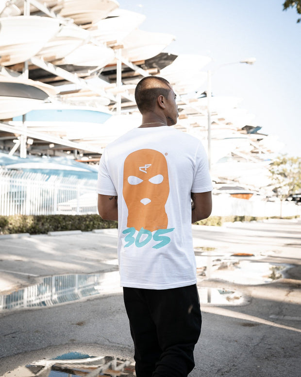 305 Edition - Bally Tee White Dolphins
