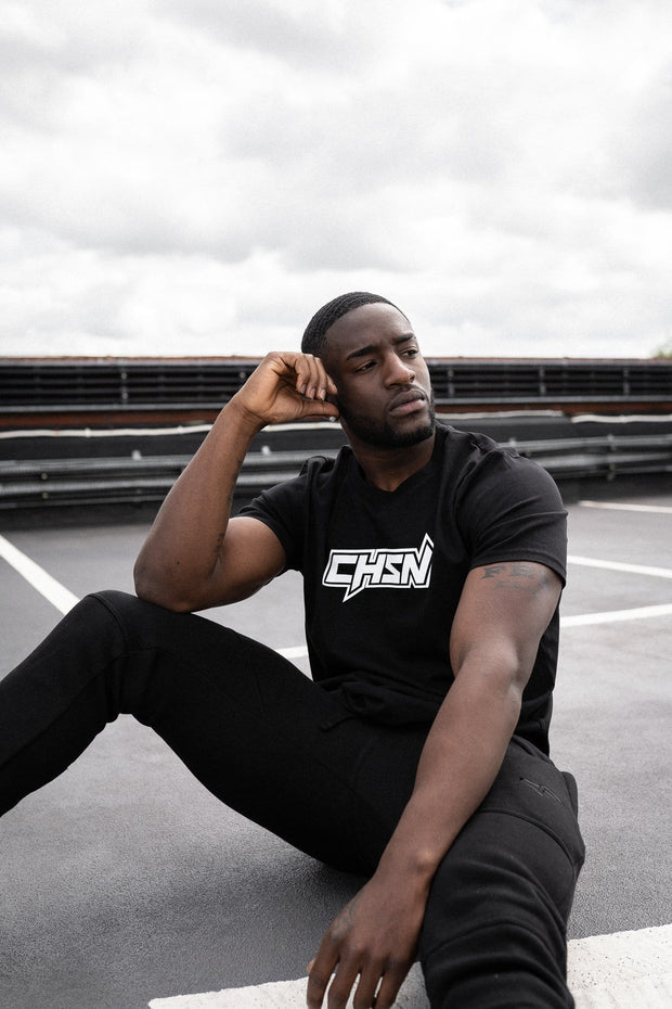 CHSN Tee Black with White