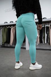 SAMPLE Scrunch Legging Turquoise