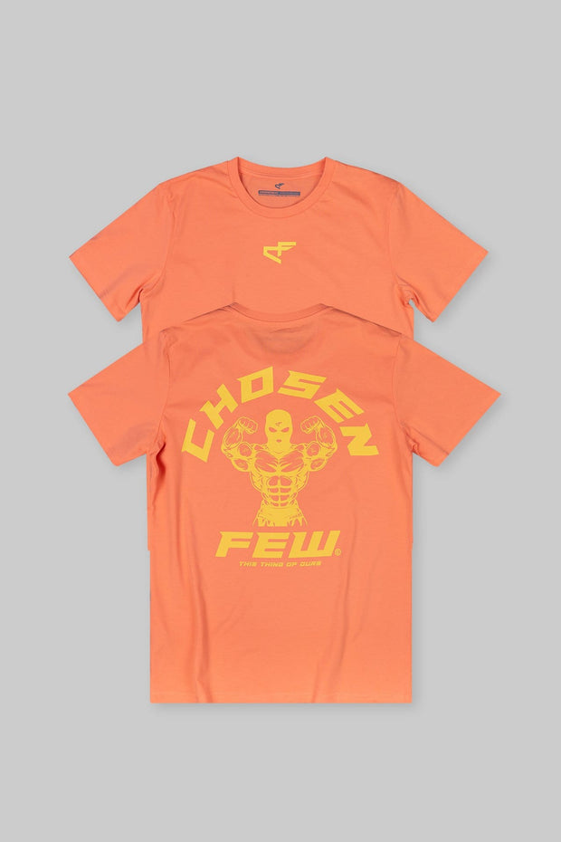 Fitted 'G' Gym Tee Vibrant Orange & Yellow