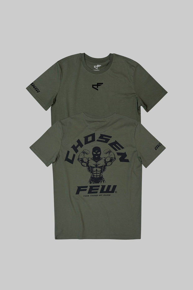 Fitted 'G' Gym Tee Khaki Green