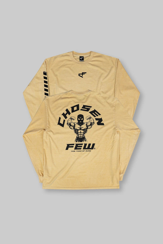 Retro 'G' Gym Long Sleeve Tee Mustard Yellow & Black