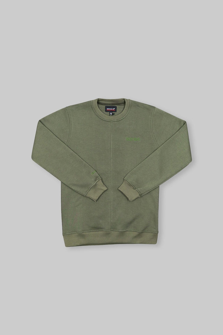 Essential Crewneck Khaki Green