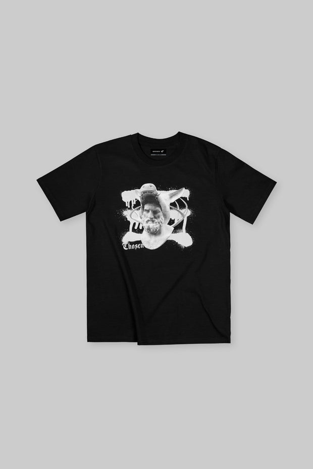 12 Labors Hind & Boar Tee Black
