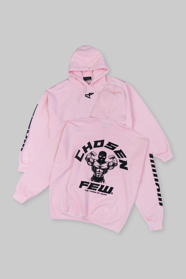 Retro 'G' Gym Hoodie Black & Cotton Candy