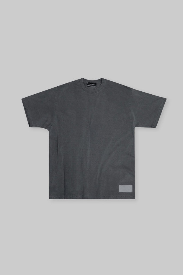 Retro Essential Tee Charcoal Black