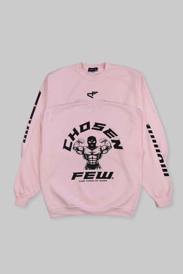 Retro 'G' Gym Crewneck Cotton Candy & Black