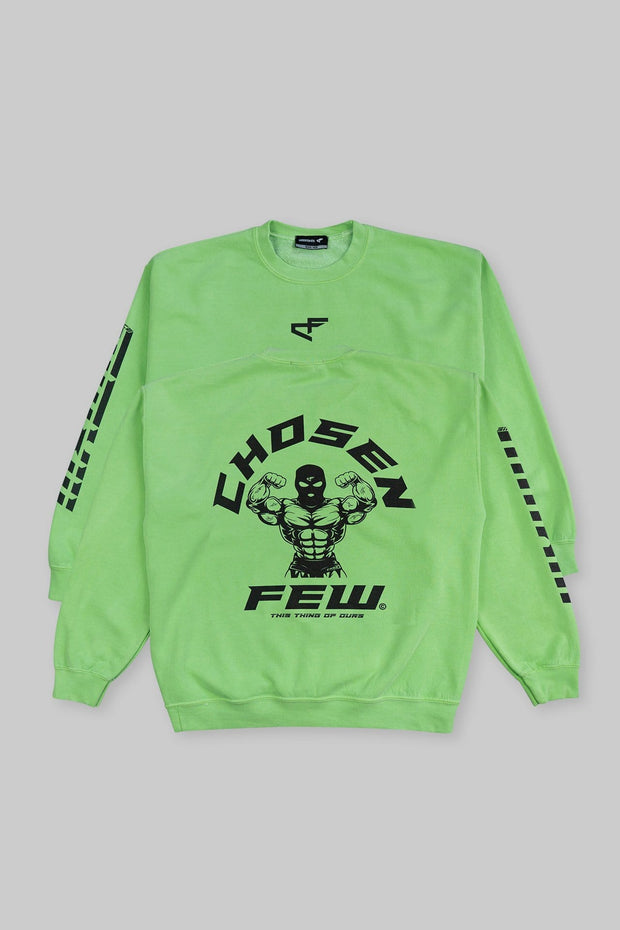 Retro 'G' Gym Crewneck Money Green & Black