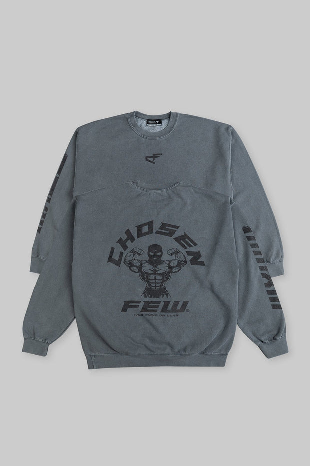Retro 'G' Gym Crewneck Charcoal Black & Black