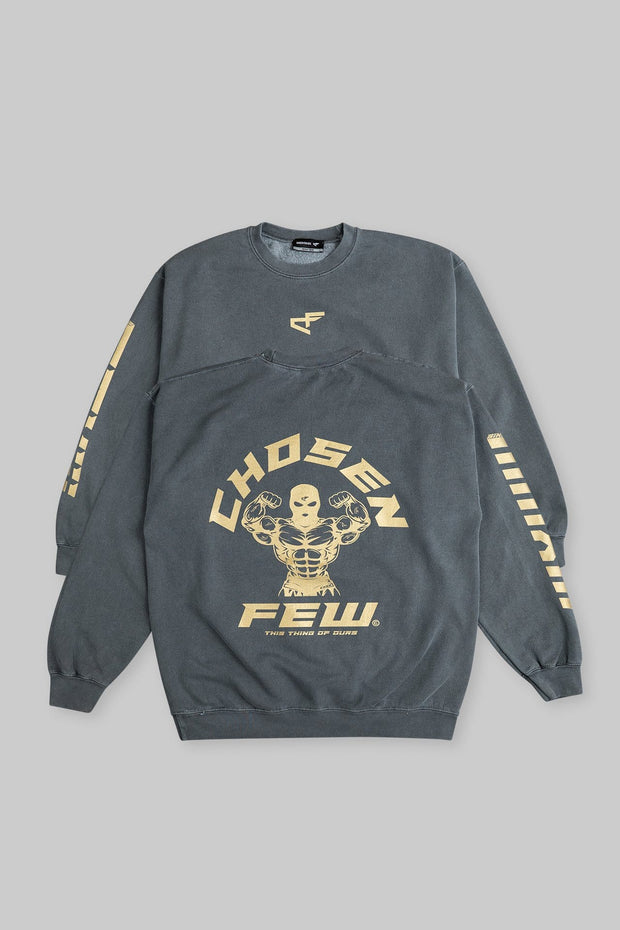 Retro 'G' Gym Crewneck Black & Metallic Gold