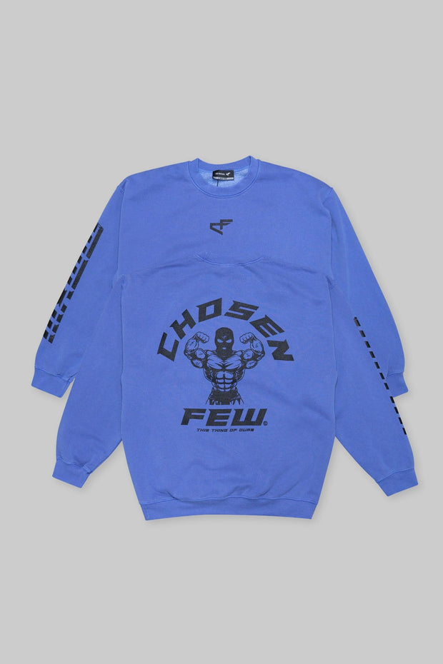 Retro 'G' Gym Crewneck Ocean Blue & Black