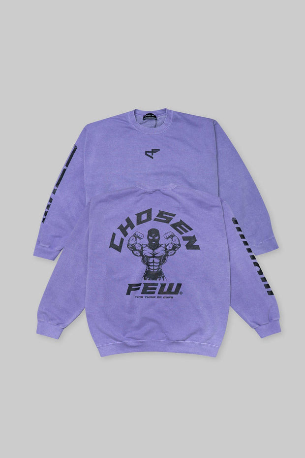 Retro 'G' Gym Crewneck Lakers Purple & Black
