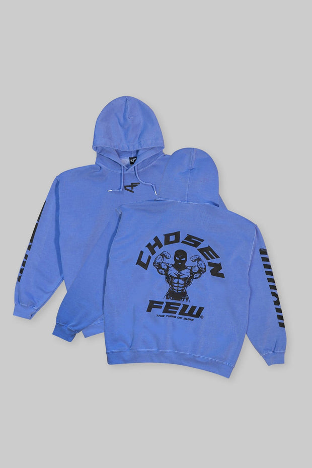 Retro 'G' Gym Hoodie Ocean Blue & Black