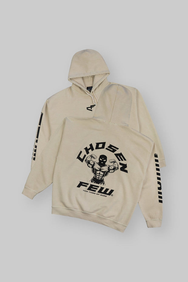 Retro 'G' Gym Hoodie Tan & Black