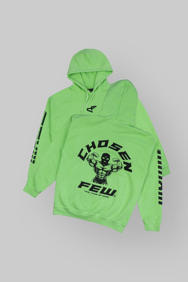 Retro 'G' Gym Hoodie Money Green & Black