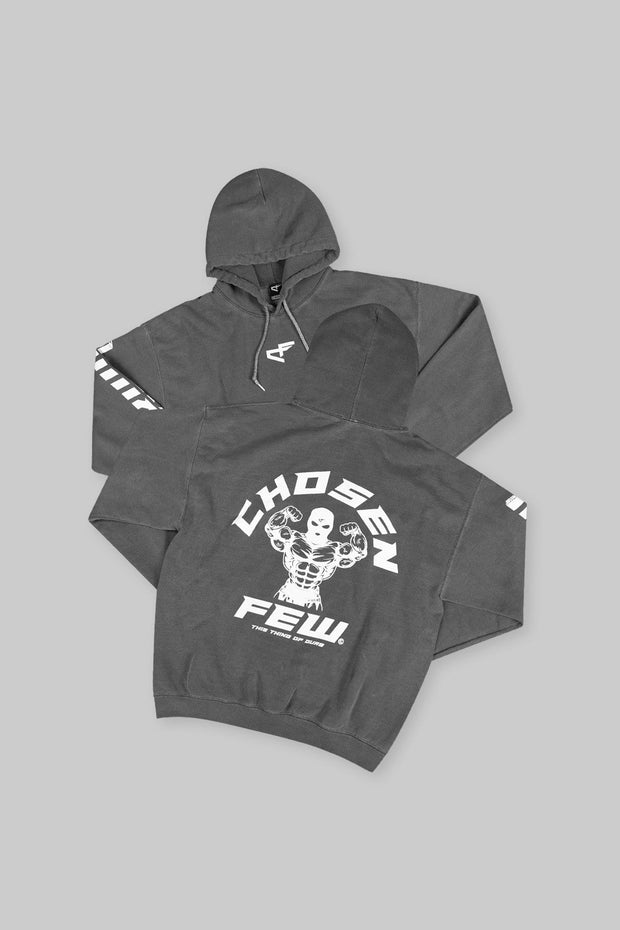 Retro 'G' Gym Hoodie Black & White