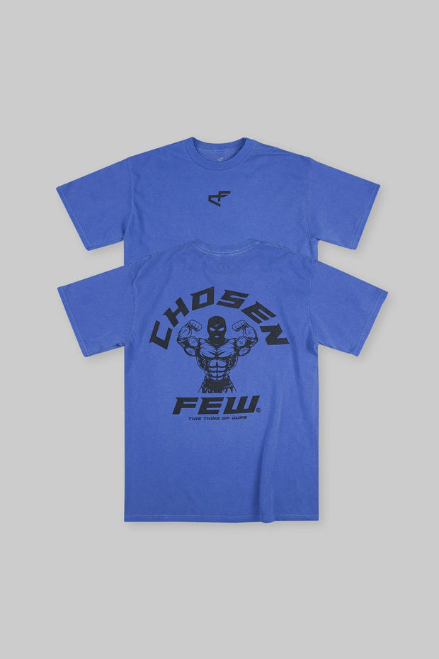 Retro 'G' Gym Tee Ocean Blue & Black