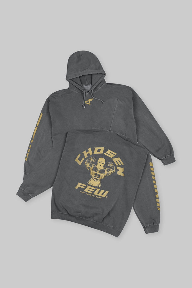 Retro 'G' Gym Hoodie Black & Metallic Gold