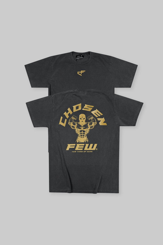 Retro 'G' Gym Tee Black & Metallic Gold