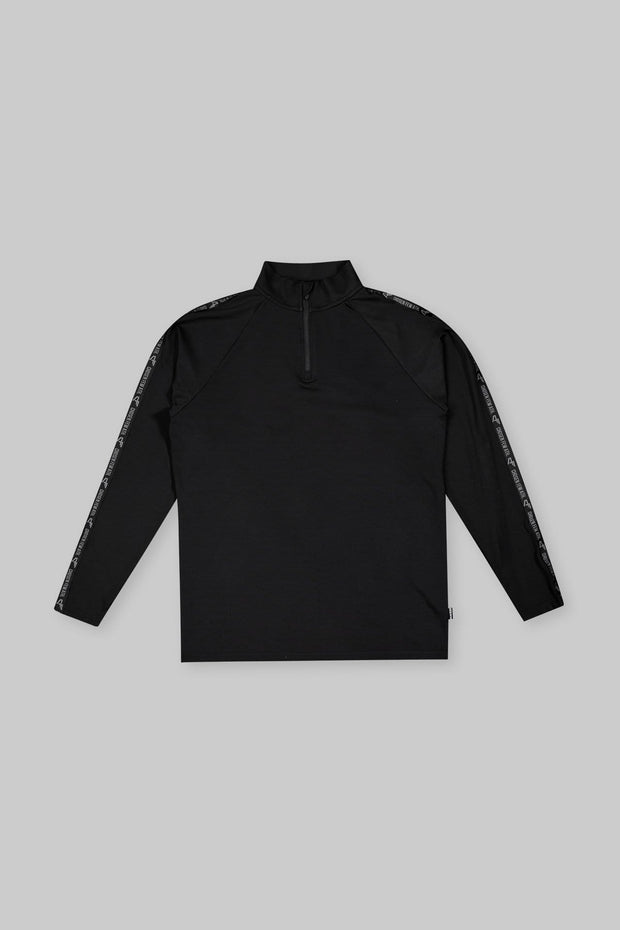 Performance 1/4 Zip Track Top Black
