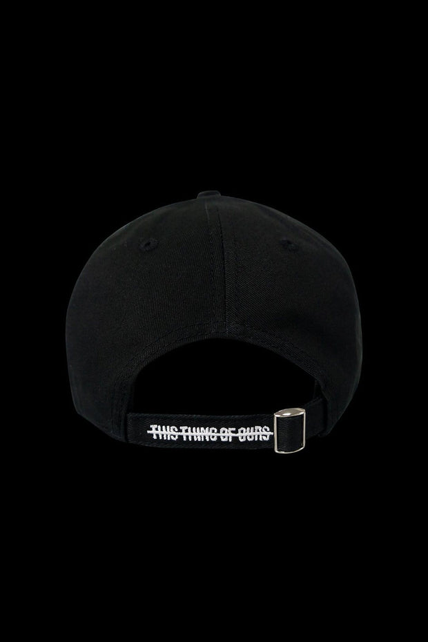 Logo Distressed Cap Black