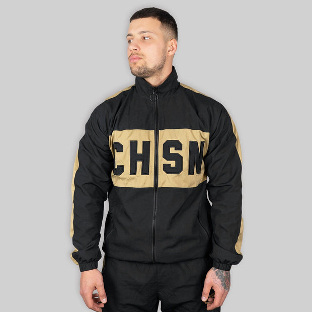CAPO Panelled Shell Jacket Gold