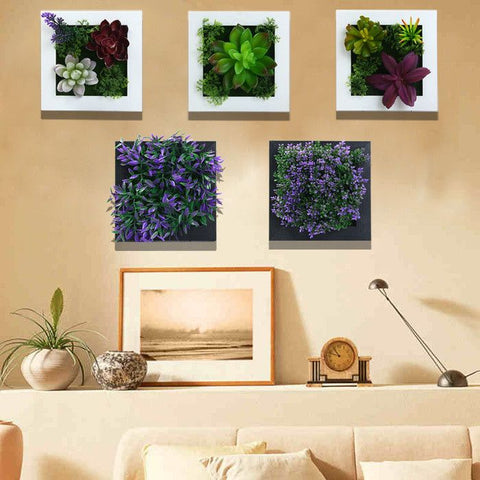 Modern 3D Potted Creative Imitation Succulent Wall Hanger Artificial Flowers - Decor Home Ideas - 1