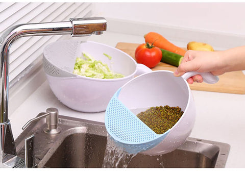 Bowl Rice & Beans Washing Handle Device - Decor Home Ideas - 1