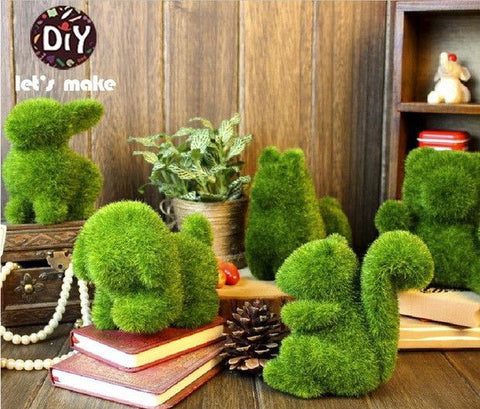 Handmade Artificial Decorative Grass Small Cute Animal Toys - Decor Home Ideas - 1