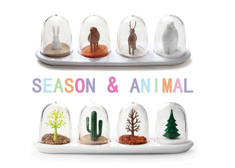 Animals &Trees Spice Shakers 4 Pcs. Set - Decor Home Ideas - 1