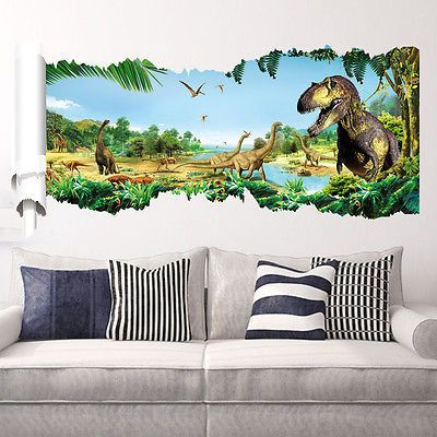 Art 3D Jurassic Dinosaur Wall Sticker - Decor Home Ideas - 1