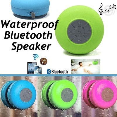 Rubber Bathroom Waterproof Bluetooth Sucker Mini Phone Call & Music Speaker - Decor Home Ideas - 1