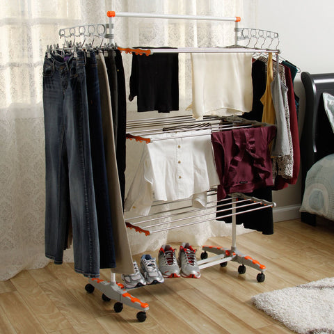 Foldable Heavy Duty and Compact Storage Drying Rack System - Decor Home Ideas - 1