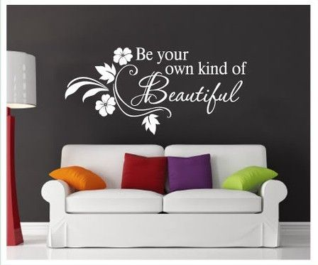 Be Beautiful Removable Wall Sticker - Decor Home Ideas